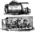 Albert Robida - The Twentieth Century - Pneumatic Tube Train.png