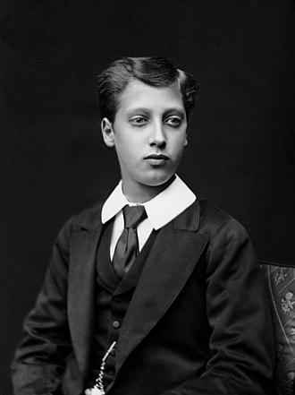 Prince Albert Victor, Duke of Clarence and Avondale - Albert Victor photographed by Alexander Bassano, 1875