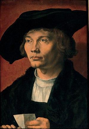 Bernhard von Reesen - Portrait of Bernhard von Reesen by Albrecht Dürer. 1521. Gemäldegalerie, Dresden