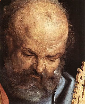 The Four Apostles - Image: Albrecht Dürer The Four Holy Men (detail) WGA07027