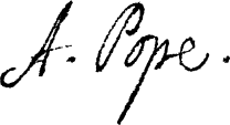 Alexander Pope signature.svg