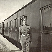 Tsarevich Alexei as a lance corporal in the Russian Army, 1916