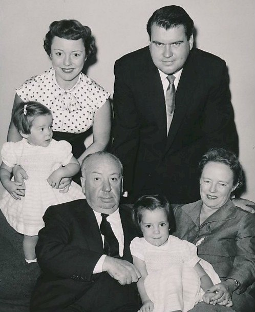 Alfred Hitchcock and family circa 1955