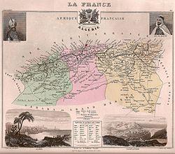 Carte de l Algérie française
