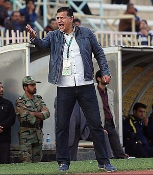 Ali Daei - Daei coaching Persepolis in match against Naft Tehran, 23 August 2013