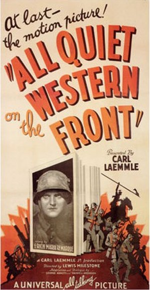 All Quiet on the Western Front - Poster for the movie All Quiet on the Western Front (1930), featuring star Lew Ayres