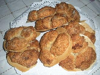 Almond biscuit - Image: Almendrados de Allariz (Ourense, España)