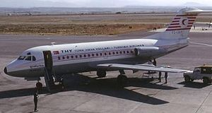 Turkish Airlines Flight 345 - TC-JAP, the aircraft involved in the accident, photographed on 1 January 1975.
