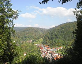 View of the north-east of Wieda from the Alte Wache viewpoint