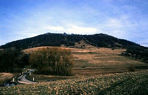 Blick auf den Alten Gleisberg von Jenalöbnitz aus