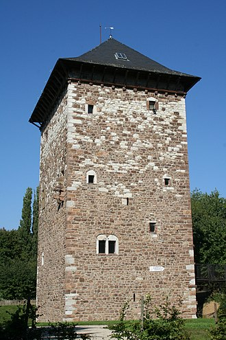 Amay - Old Romanesque tower (12th century)