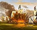 Amsterdam - Scheepvaartmuseum - schilderij Zeeslag bij Solebay - no frame.jpg