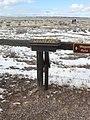 An NTIR sign pointing at wagon ruts, at Timpas Creek Picnic Area in Comanche National Grassland (20dab3bc7204491ba3c5fd1cf47329dd).JPG