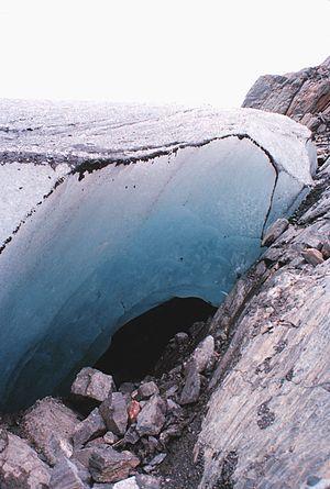 Mendenhall Glacier - A glacier cave under Mendenhall Glacier