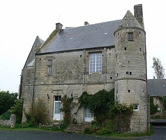 Port-en-Bessin-Huppain - Image: Ancien château de Villiers sur Port à Huppain
