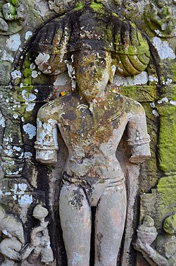 Ancient stone idol of poet Jayadeba at Akhandaleswara Temple, Prataparudrapura, Odisha.jpg