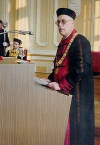András Róna-Tas is rector at the Univrsity of Szeged, 14.02.1991..JPG
