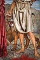 Andrea del castagno, trinità e san girolamo tra le ss. paola ed eustochia, 1453-54 ca. 05 leone.jpg