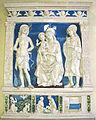 Andrea della robbia (bottega), pala dei santi sebastiano e giuliano, da conv. di sargiano, 1495-1500 ca. 01.JPG