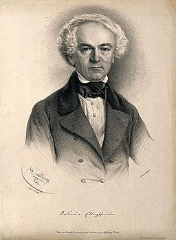 Andreas von Ettingshausen. Lithograph by A. Dauthage, 1853. Wellcome V0001792