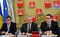 Andrei Dolineaschi, Liviu Dragnea si Victor Ponta la reuniunea BPN - 02.12.2013 (11173038595).jpg