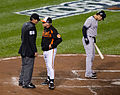 Angel Hernandez, Buck Showalter (8069794604).jpg