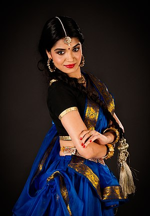 Natya Shastra - Image: Anjum Bharti in Sari, for Kathak India Dance Arts