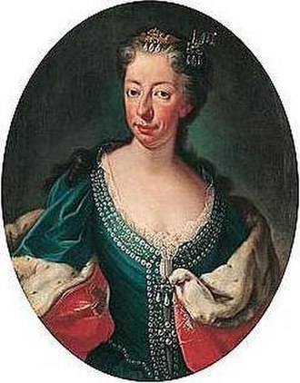 Jacobite line of succession to the English and Scottish thrones in 1714 - Anne Marie d'Orléans, Queen of Sardinia, paternal first cousin of Anne and James Stuart