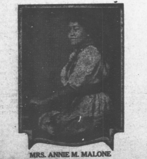 Annie Malone - Image: Annie Malone 1921