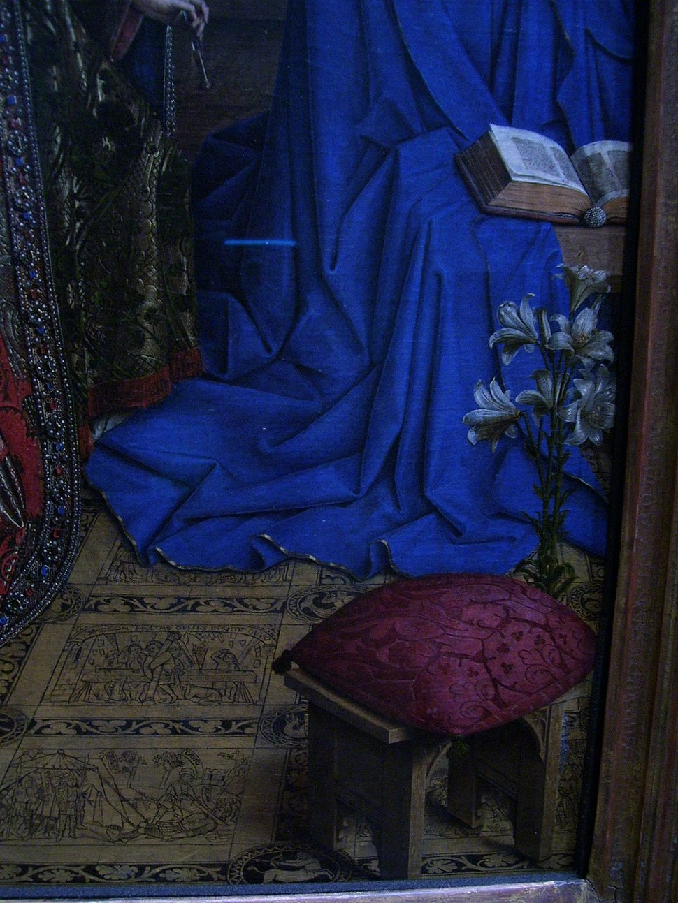 Annunciation - Lily and the floor - Jan van Eyck - 1434 - NG Wash DC