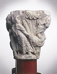 Anonyme - Chapiteau de colonnes jumelles , Les Pèlerins d'Emmaüs - Musée des Augustins - ME 263 (2).jpg