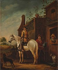 A Horseman in Front of a Tavern