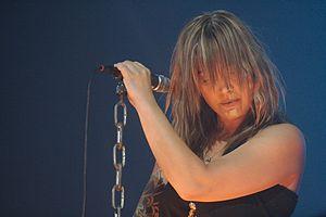 Anouk (singer) - Anouk at Lowlands festival in 2006