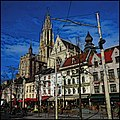 Antwerp Cathedral under an Extraordinarly Azure Sky - panoramio.jpg
