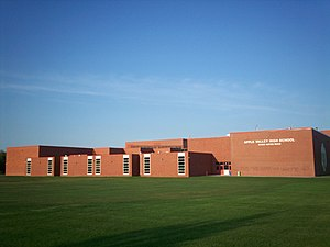 Apple Valley, Minnesota - Apple Valley High School built in the 1970s.