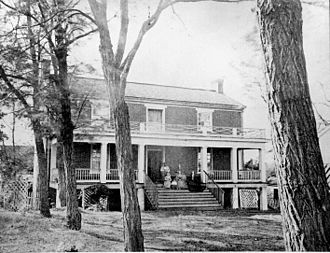 Conclusion of the American Civil War - The McLean house where Lee surrendered to Grant on April 10, 1865