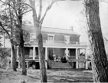 The McLean house where Lee surrendered to Grant on April 9, 1865 AppomattoxCourtHouse.jpg