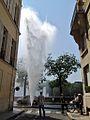Après l'incendie de l'Hôtel Lambert, une fuite d'eau (Paris - 2013) - 2.JPG