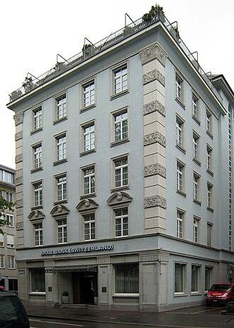 Arab Bank - The Arab Bank building in Zürich, Switzerland.