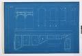 Arbetsritningar, fastigheten nr 4 Hamngatan. Nedre och övre vestibulen - Hallwylska museet - 105310.tif