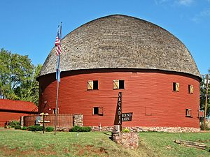 National Register of Historic Places listings in Oklahoma County, Oklahoma - Image: Arcadia Round Barn in Fall