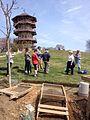 Archaeologist Jason Shellenhamer with tour group below the Patterson Park Pagoda (16150914747).jpg