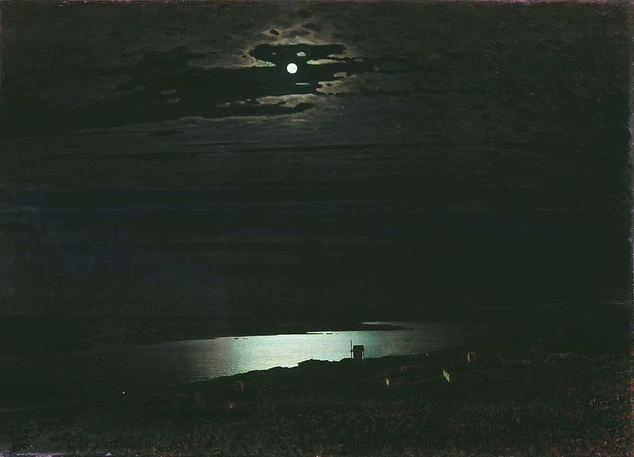 Archip Kuindshi, Night on the Dnieper River 1882.