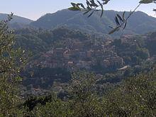 Il paese di Arcola visto dalla località di Masignano
