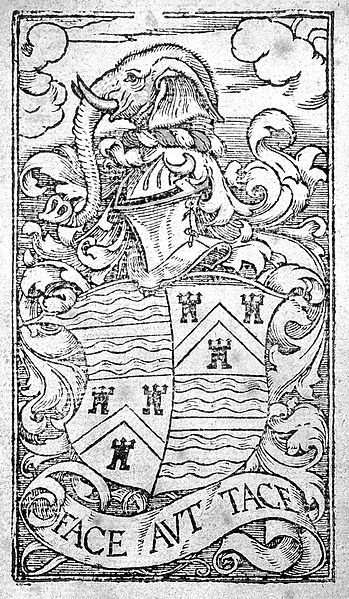 """File:Armorial bearings from """"The Castel of Helth.."""" Wellcome L0000154.jpg"""