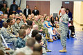Army Gen. Martin E. Dempsey, chairman of the Joint Chiefs of Staff, speaks with members of U.S. Southern Command staff during a town hall meeting at the U.S. Army Garrison-Miami Family & MWR Fitness Center at U 140210-D-KC128-093a.jpg