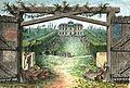Arnaud - Recueil de tombeaux des quatre cimetières de Paris - Frontispice (colored).jpg