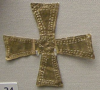 Belluno Treasure - Image: Arte longobarda, da sutri, crocetta d'oro, fine VI inizio VII sec