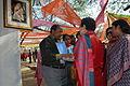 Artist gopal prasad sharma with the formal cabinet minister kumari shelja.JPG