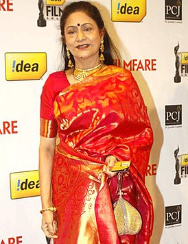 Aruna Irani at 57th Filmfare Awards.jpg